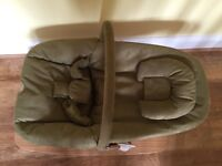 Mamas and Papas Nest bouncing/rocking cradle in green