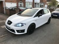 Seat Leon 1.9 fr replica in white gloss black roof and alloys drives superb 1 owner facelift model