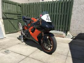 Zx10r race track bike