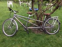 Tandem bike for sale, used 10 times