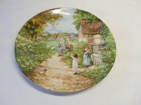 Wedgwood Village Green series decorative plates by Petula Stone