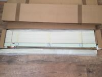 2 x VENETIAN BLINDS ECRU COLOUR WOODEN slats 3.5 cm W=109cm D=162.5cm --- BRAND NEW---
