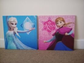 Frozen Elsa & Anna Pictures - each 45cm x 45cm