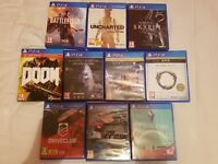 10 ps4 game bundle great condition £120.