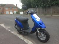 Moped 50cc Piaggio Typhoon exceptionally low mileage, hardly used and in wonderful condition