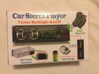 Car stereo player with remote control, build in Bluetooth hands free calls