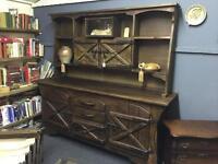 Antique Spanish Oak Dresser Unit Welsh Dresser