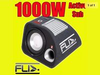 """FLI Audio Trap 12"""" inch Active Amplified Subwoofer Sub Bass Box Enclosure 1000 w"""