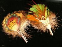 Pair of Vintage Scottish Grouse Feather Brooches
