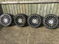"17"" Alloy Wheels 4 Stud with New Tyres"