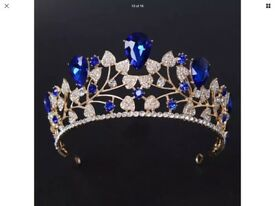 Wedding Tiara Sapphire Blue