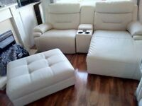 White leather cinema sofa set can deliver