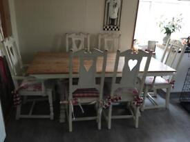 Shabby chic 6 seater table