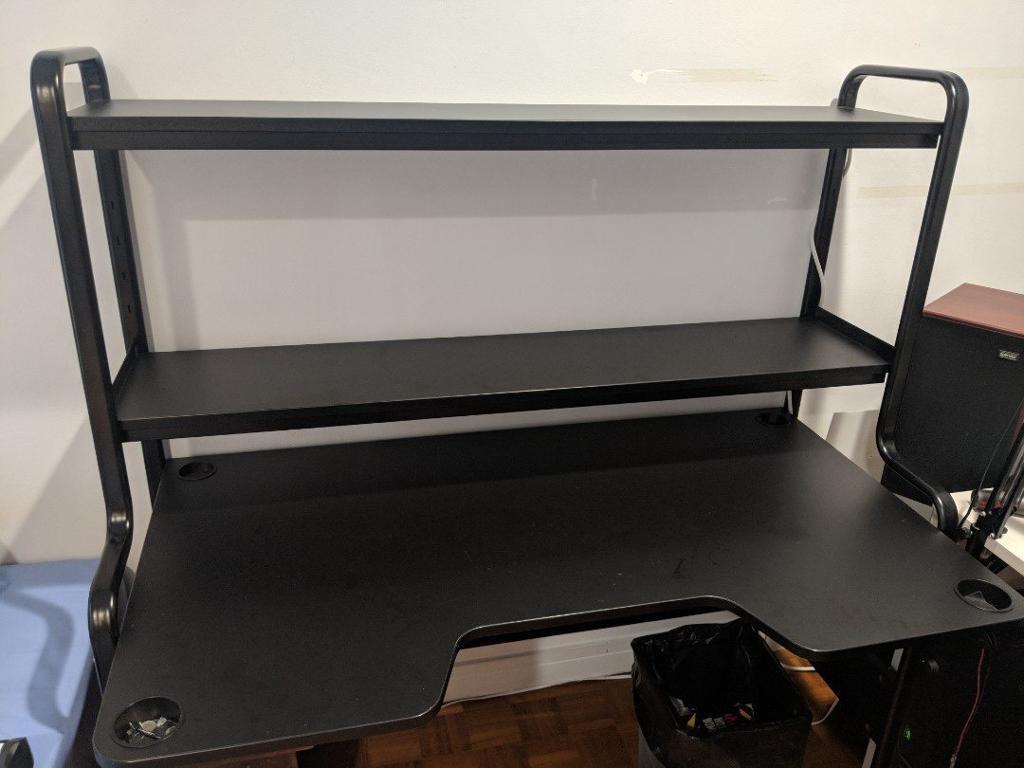 Ikea Desk Fredde Workstation Black In Watford Hertfordshire Gumtree