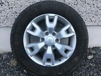 18INCH FORD RANGER ALLOY WHEELS POLISHED DIAMOND CUT & SILVER WITH GOOD TYRES FIT MOST MODELS