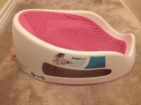 Angel Care pink and white baby girls baby bath