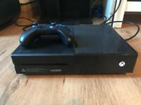 Xbox One 500gb with controller & 1 game