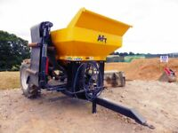 AFT 8 Tonne Stone Cart Gravel Trailer with hydraulic brakes and lights