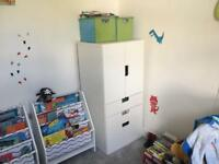 Wardrobe and shelving unit for toddlers