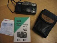 """Canon """"Prima"""" Sure-Shot AF7 35mm Film Camera & Case"""