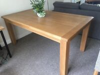 Solid oak dining table - 6FT X 3.5FT
