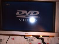 27 inch flat screen tv ,wall mountable. plus dvd player