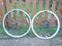 TWO 26 INCH DHV BIKE WHEELS