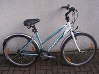 Ladies Silver/Green Giant GSR Comfort Mountain Bike