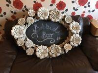 Large wooden chalk board/mirror
