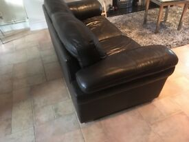 3 seater leather