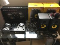 Traktor Kontrol S2 MK2 DJ Controller with 2 x KRK Rokit 5 G3 Speakers and extras (MINT CONDITION)