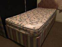Single divan bed with mattress-£30 delivered