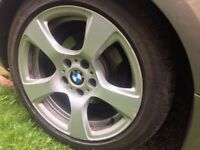 BMW 17 inch alloys with tyres - urgent sale