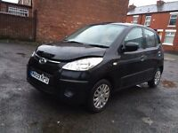 2009 BLACK HYUNDAI i10 1.2 -5 DOORS,ONE OWNER,52000 LOW MILES,MOT OCT.2017,LIGHT DAMAGED REPAIRABLE