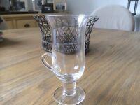 6 Unused Dartington Crystal Irish Coffee Glasses