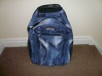 Backpack or Carry on Hand Luggage with wheels and extendable handle