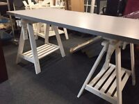 Ikea desks for sale. More than 10. Tabletops available in grey and white.