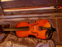 Stentor Conservatoire 1/2 size violin-top-of-the-range, as new, half-price bargain( RRP £309)