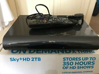 sky+ 2tb hd box with remote