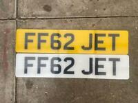 Cherished number plate JET