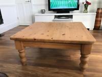 Bespoke solid pine coffee table