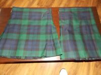 2x black watch kilts both with flashes