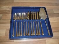 Bronze plated Fish Knife & Fork set
