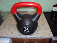 12kg Cast Iron/Vinyl Coated Kettlebell
