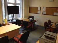 Office space office room office desk to let for rent Leicester City Centre Granby Street