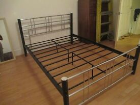 DOUBLE BED FRAME (metal)