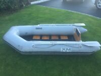 Inflatable 2.3 metre Tender with oars attached