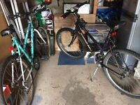 2 mountain bikes for sale together, one Diamond Back (working) one Emmelle (spares)