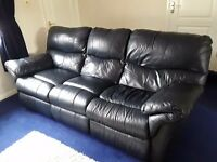 3 seater and 2 seater leather suite FREE TO COLLECTOR