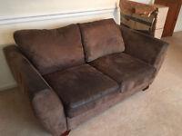 2 seater sofa brown